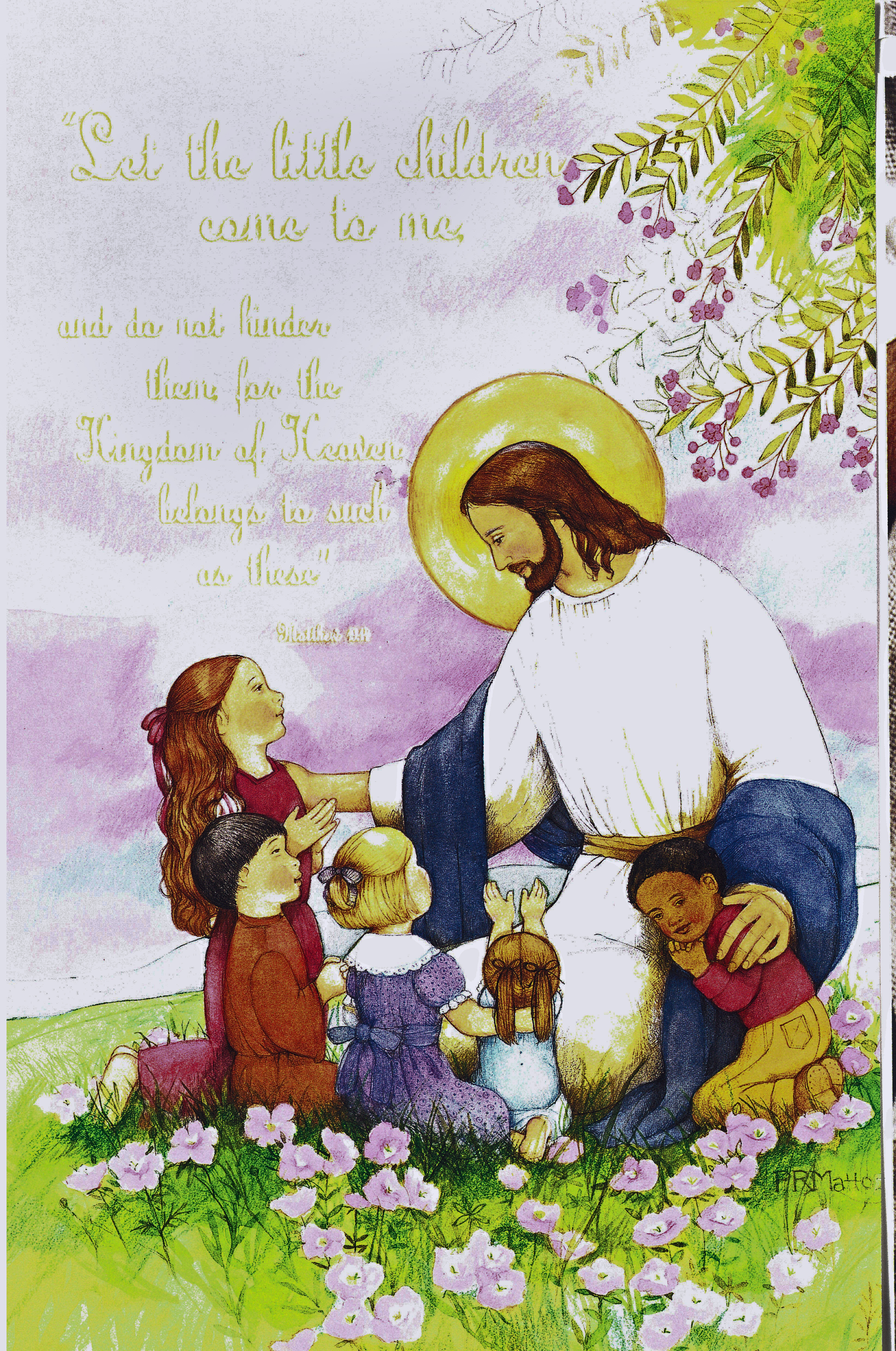 Bulletin Covers Communion Let the Children Come to Me-9912