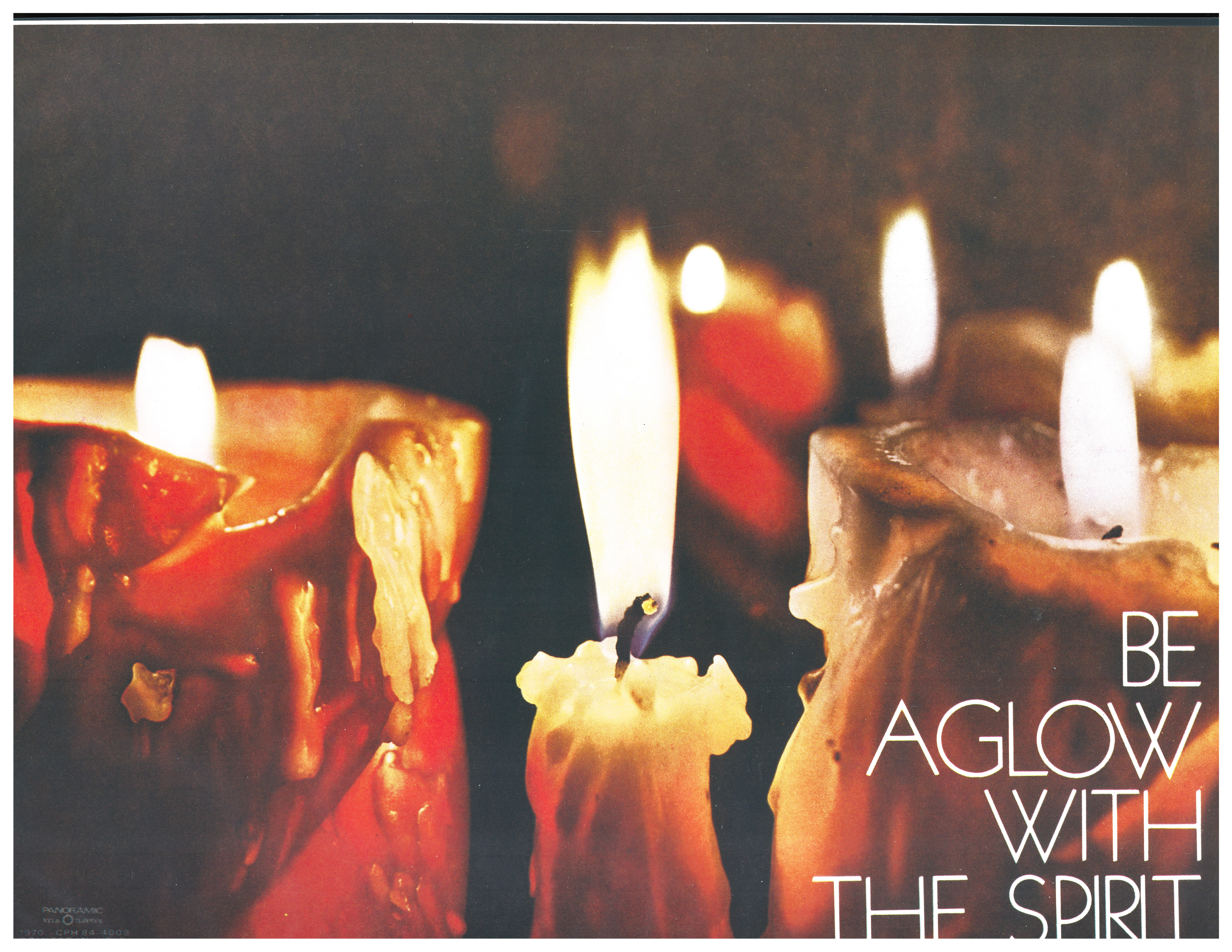 Bulletin Covers Confirmation Be Aglow With The Spirit-1970