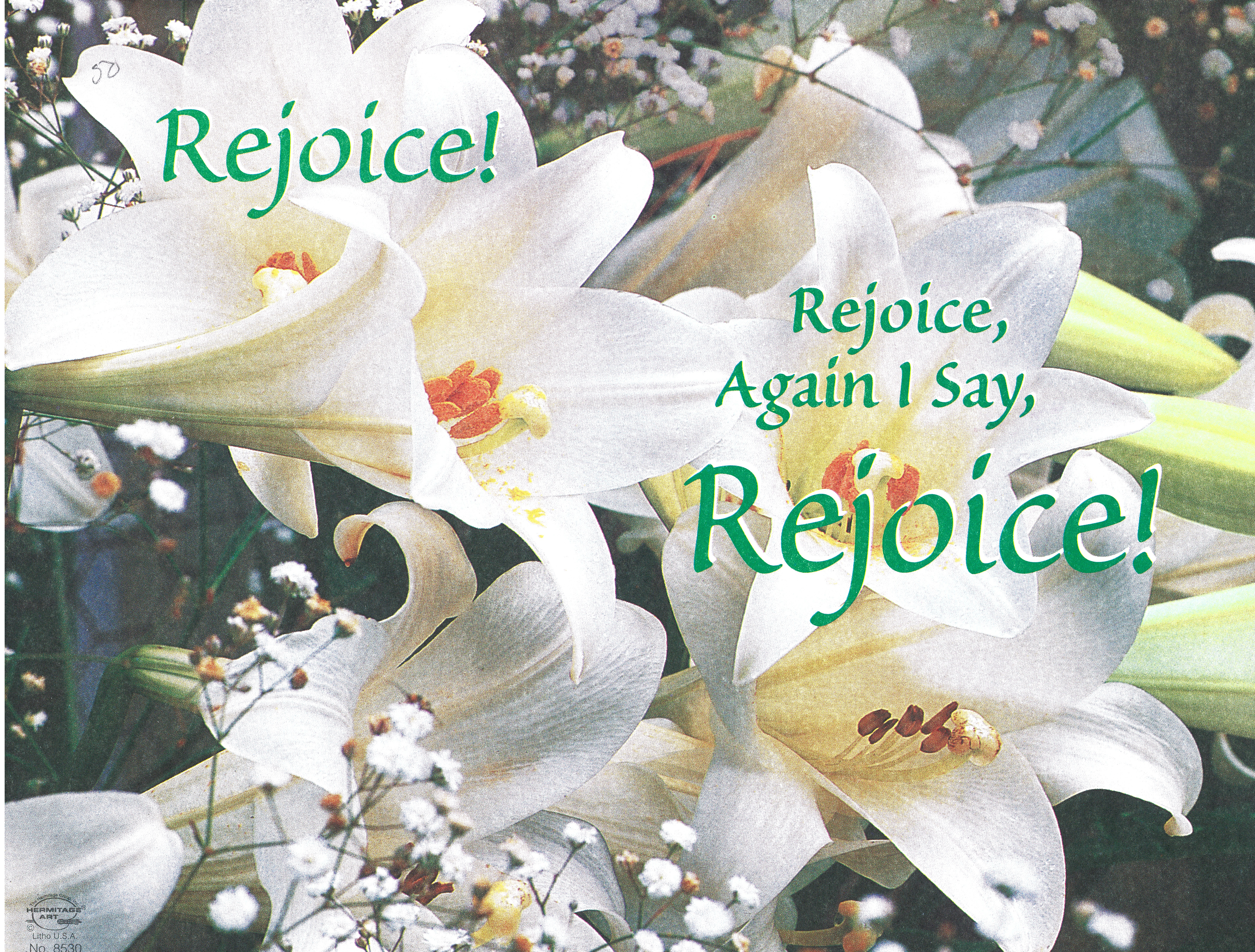 Bulletin Covers Easter Rejoice-8530