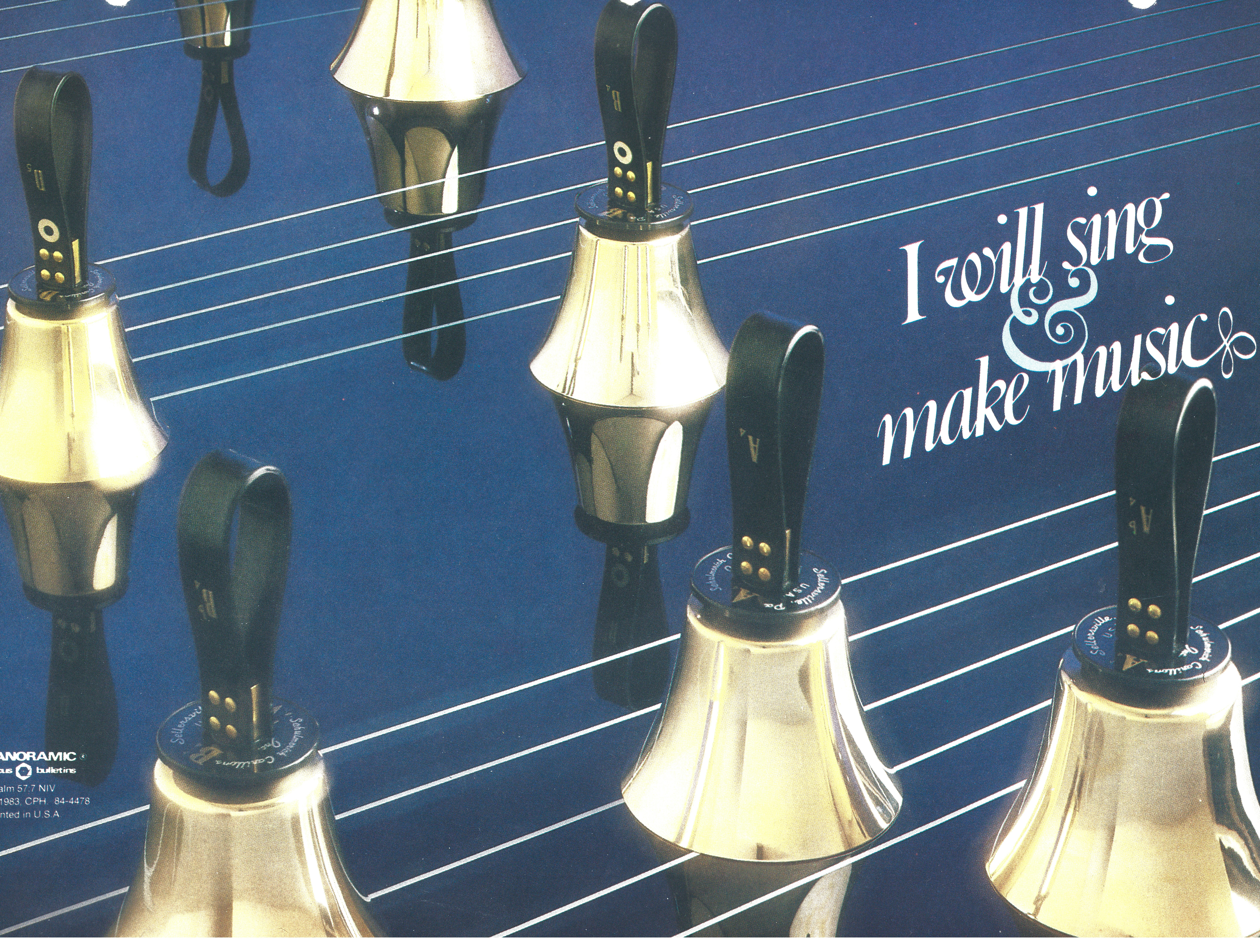 Bulletin Covers Hand Bells-84-4478