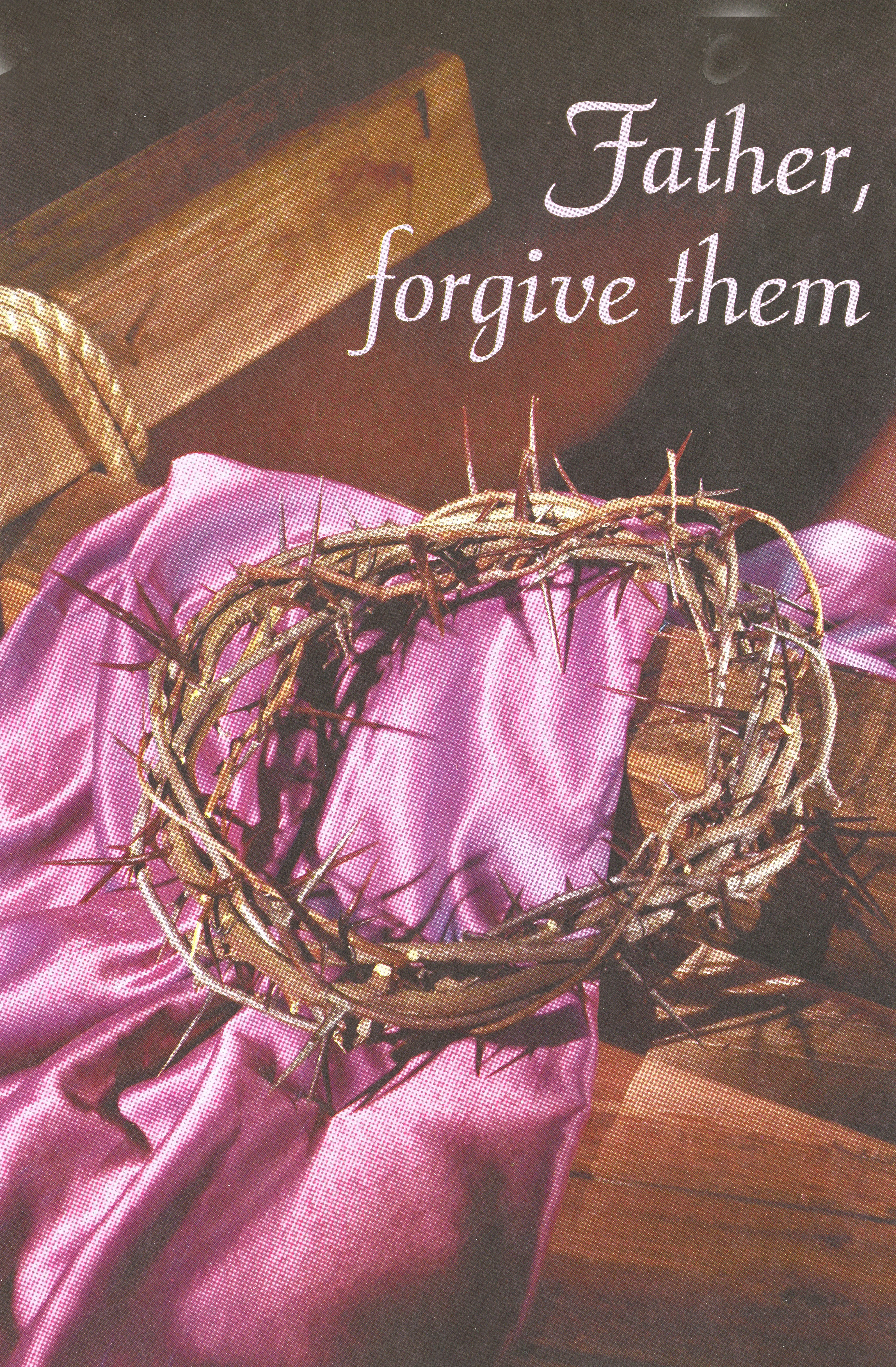 Bulletin Covers Lent Father Forgive Them-9295