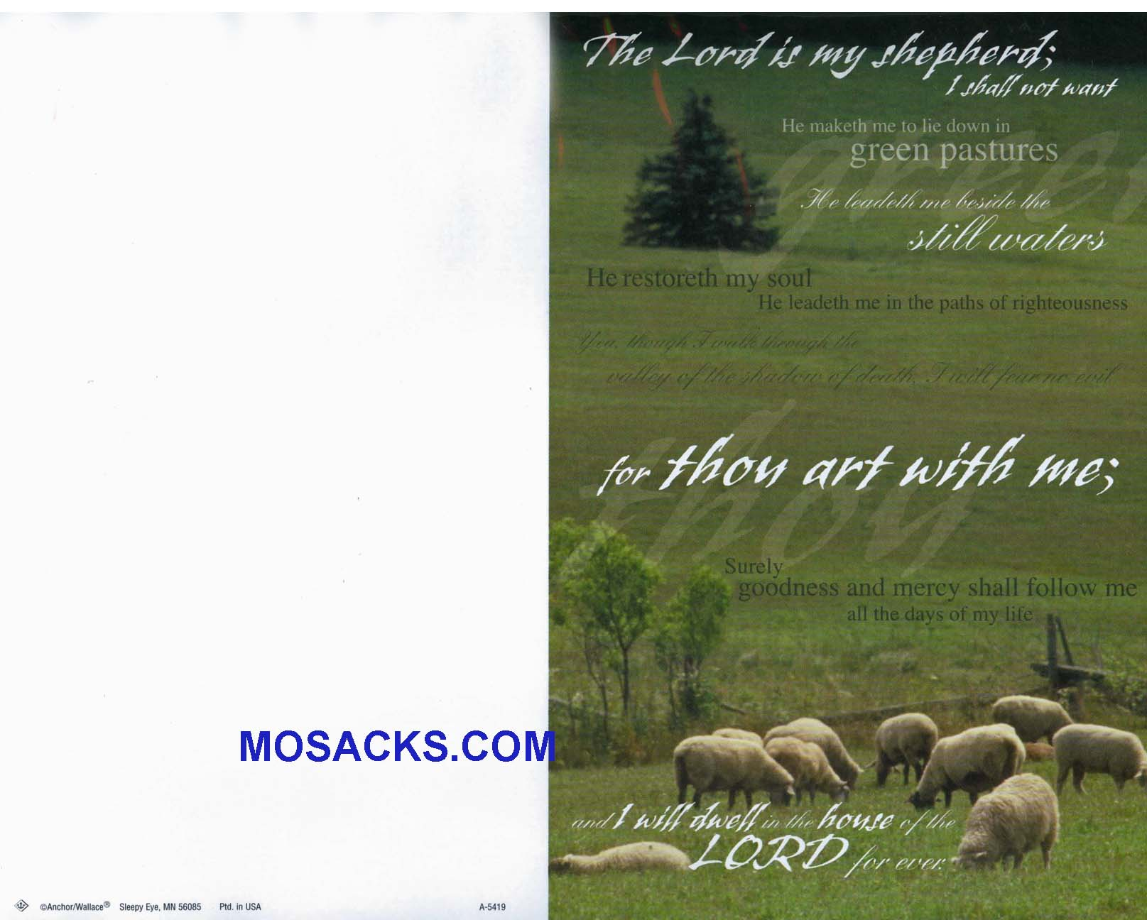 Bulletin Cover Lord Is My Shepherd 100 Pack-A5419
