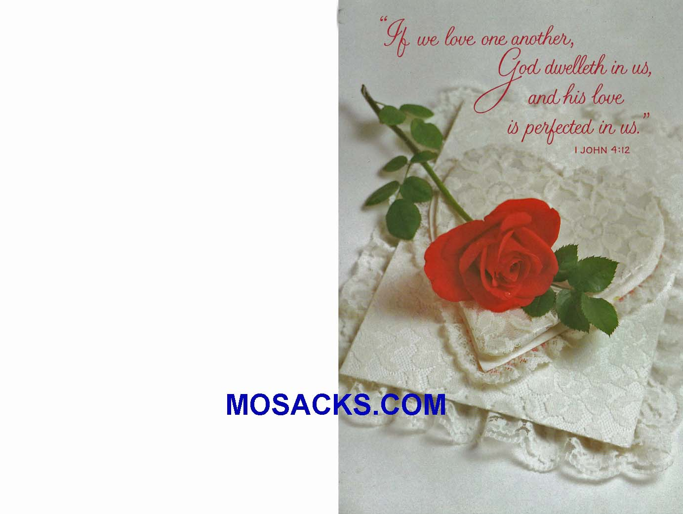 Wedding Bulletin Covers Love One Another 100 Pack-U6068, Wedding Cover