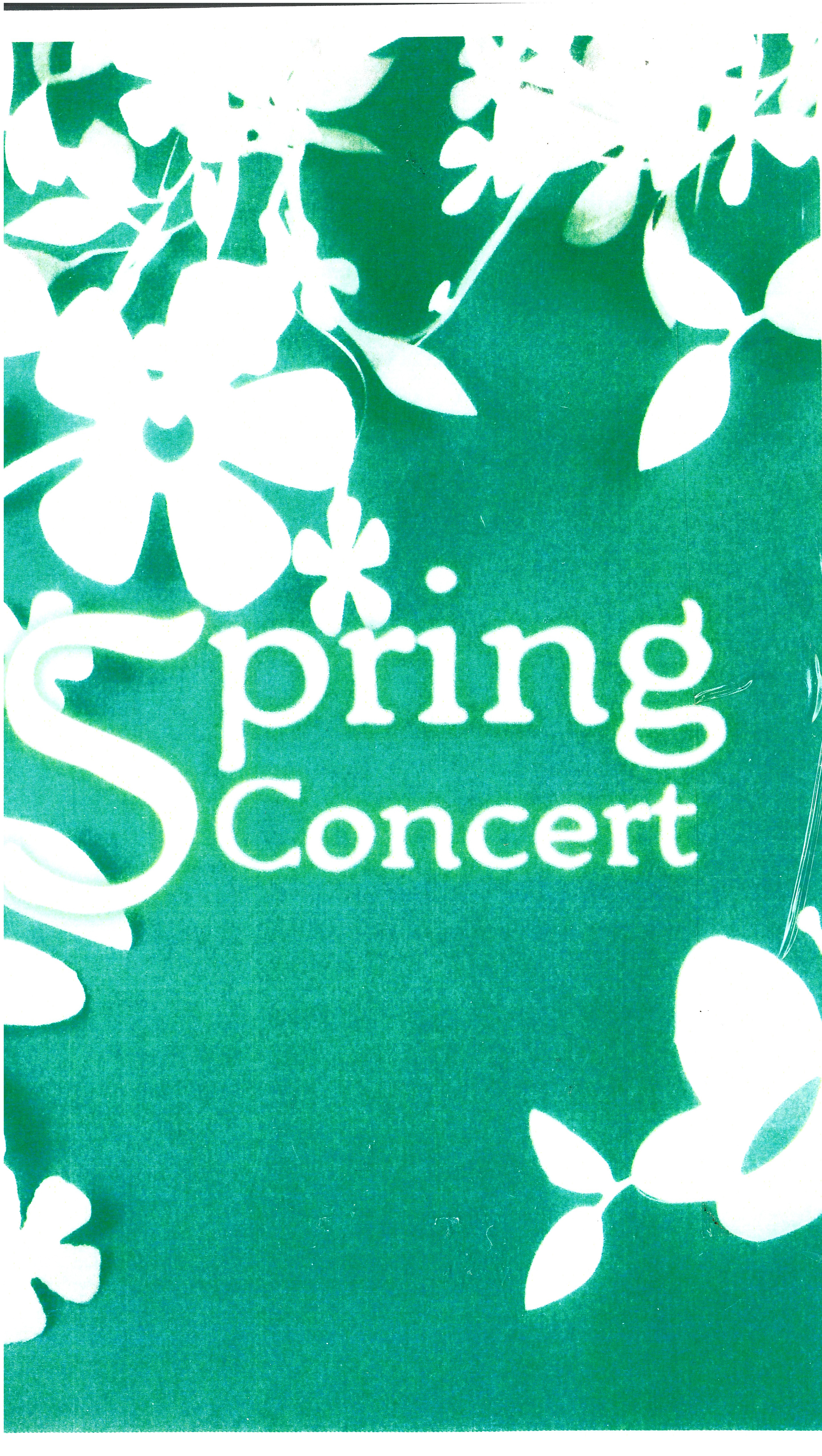 Bulletin Covers Music Spring Concert -9729