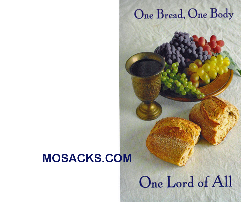 Bulletin Covers One Bread One Body 100 Pack-8934, Communion Cover