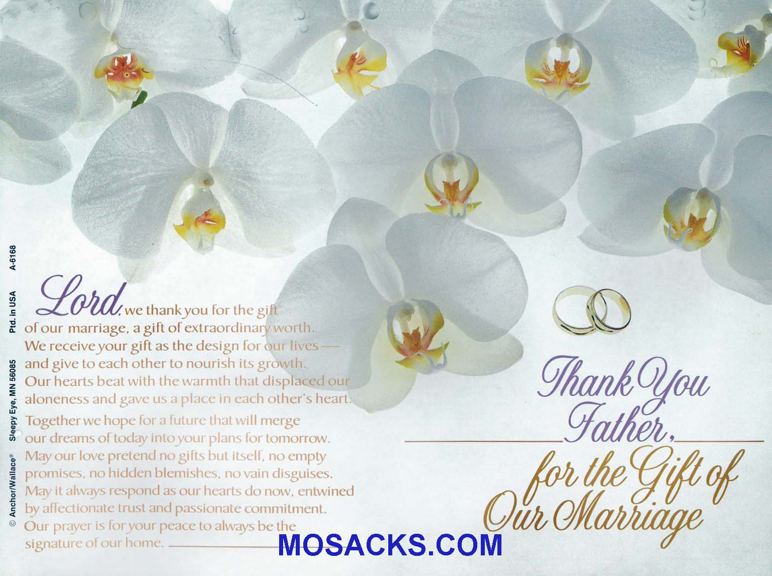 Wedding Bulletin Covers Thank You Father 100 Pack-A6168, Wedding Cover