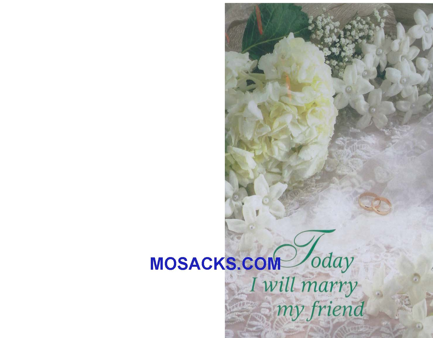 Marriage  Bulletin Covers Today I Will Marry My Friend 100 Pack-9312, Wedding Cover