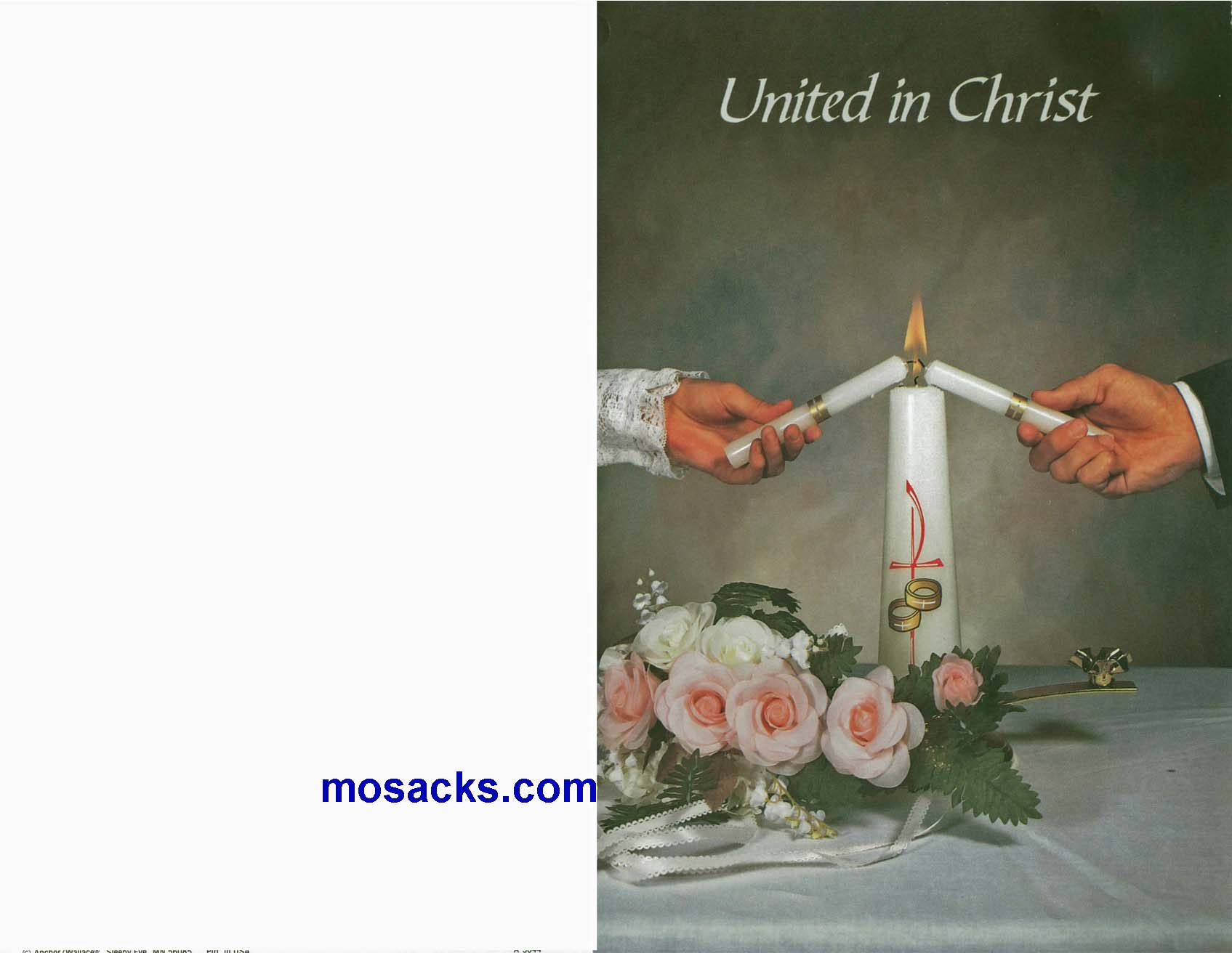Wedding Bulletin Covers United In Christ 100 Pack-A5044, Wedding Cover