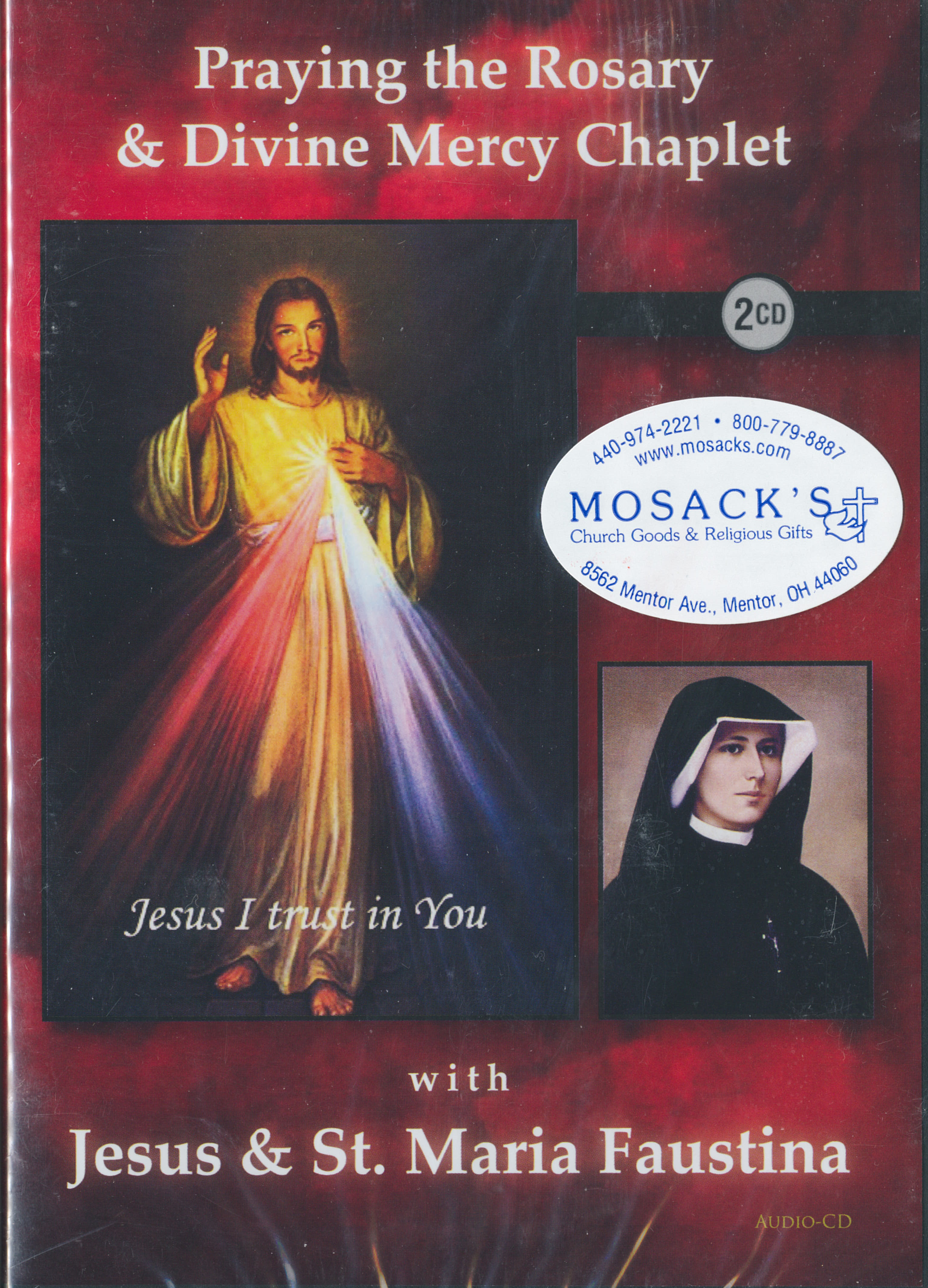 CD-Praying The Rosary & Divine Mercy Chaplet With Jesus & St. Maria Faustina 2 Audio CD Set 880414112229