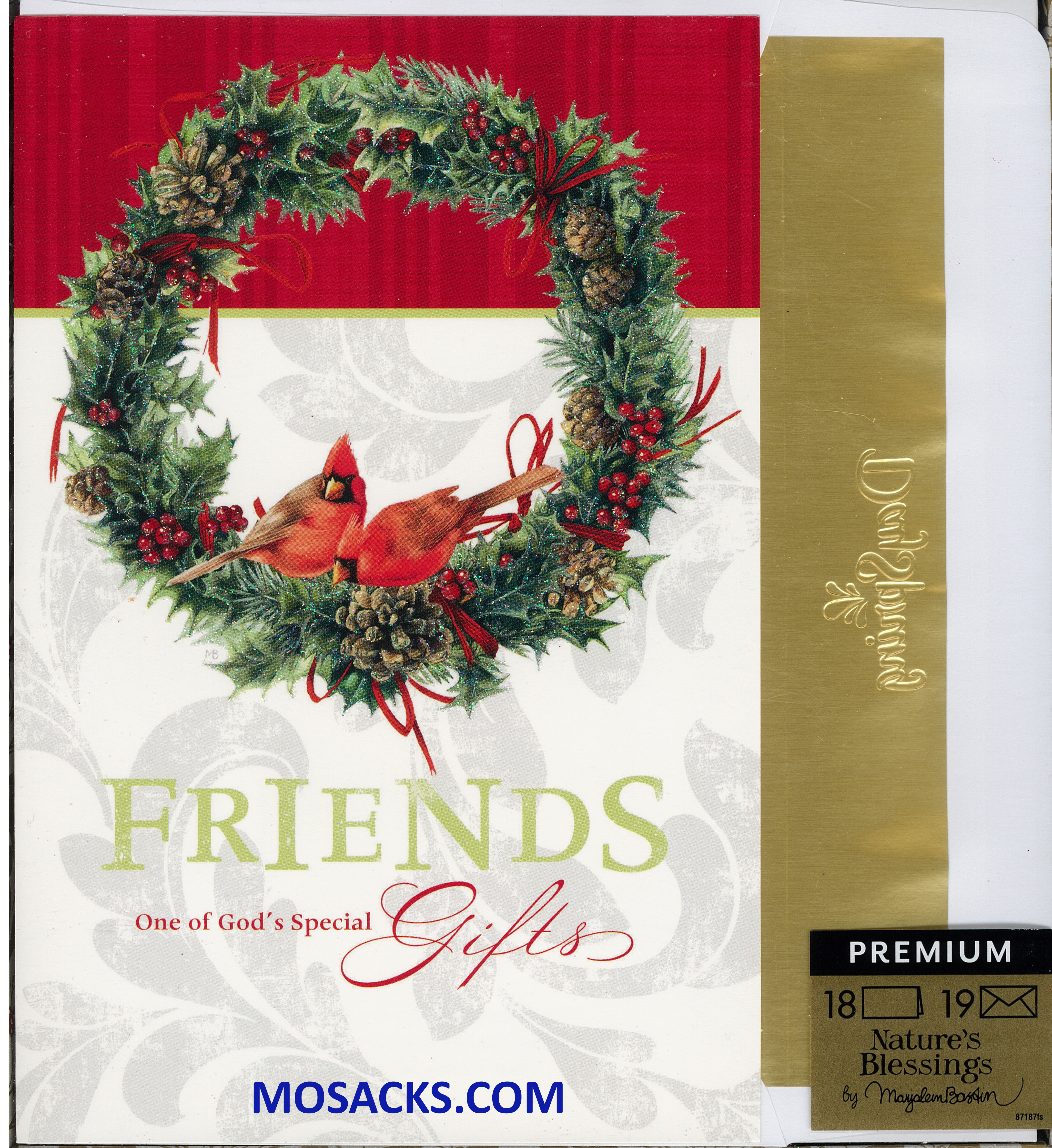 Cardinal Wreath Boxed Christmas Cards 217-87187