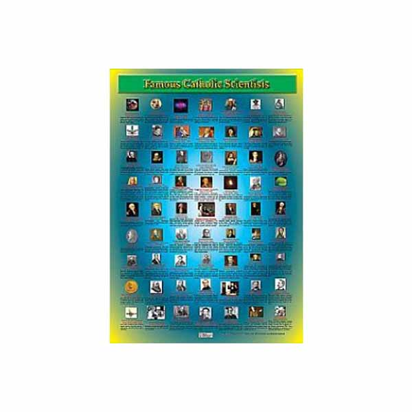 "Famous Catholic Scientists 19"" x 27"" Laminated Catholic Poster"