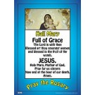 "Hail Mary 19"" x 27"" Laminated Catholic Poster"