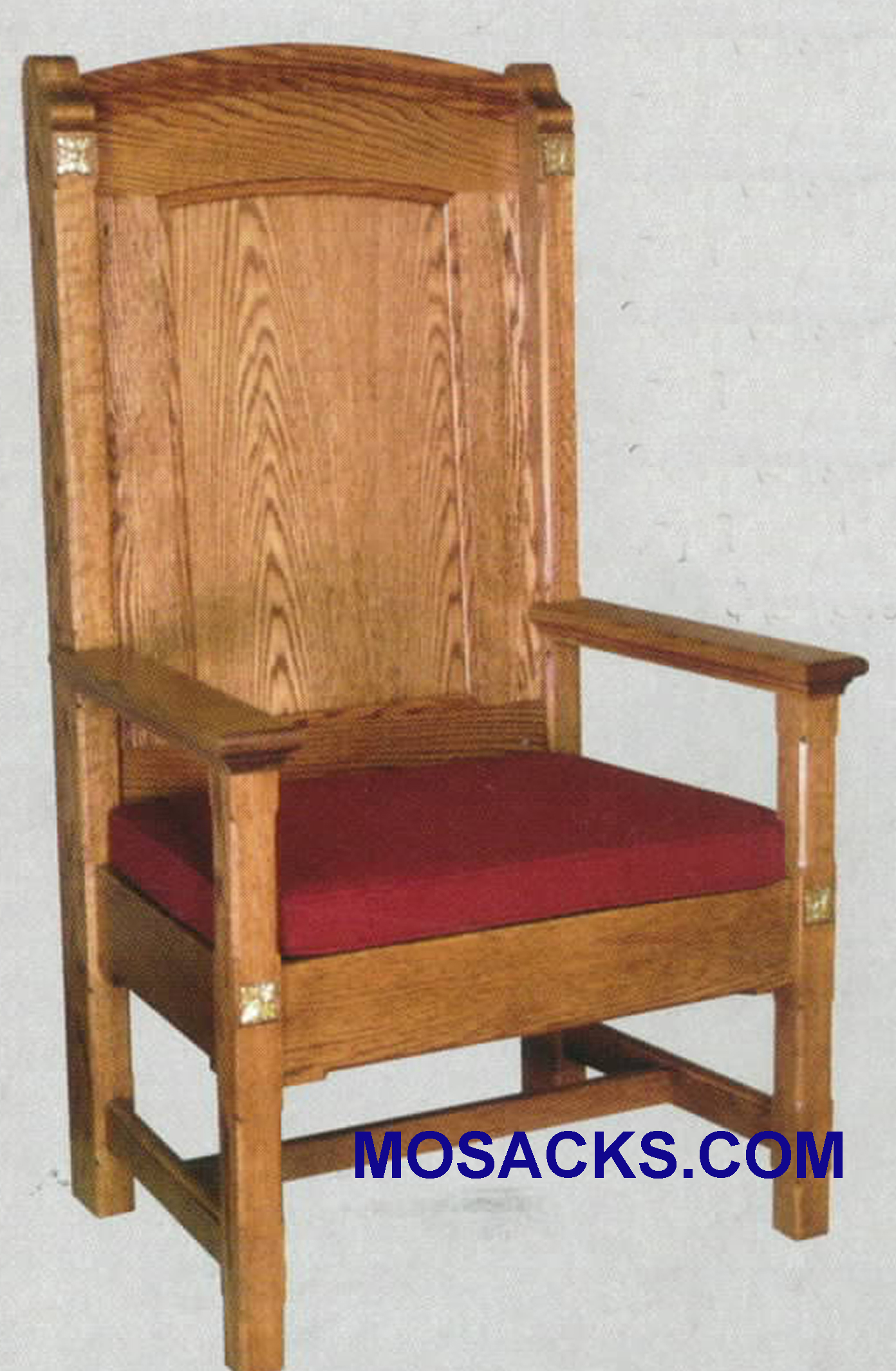 "Celebrant Chair w/reversible seat cushion 29"" w x 24"" d 52"" h 146"