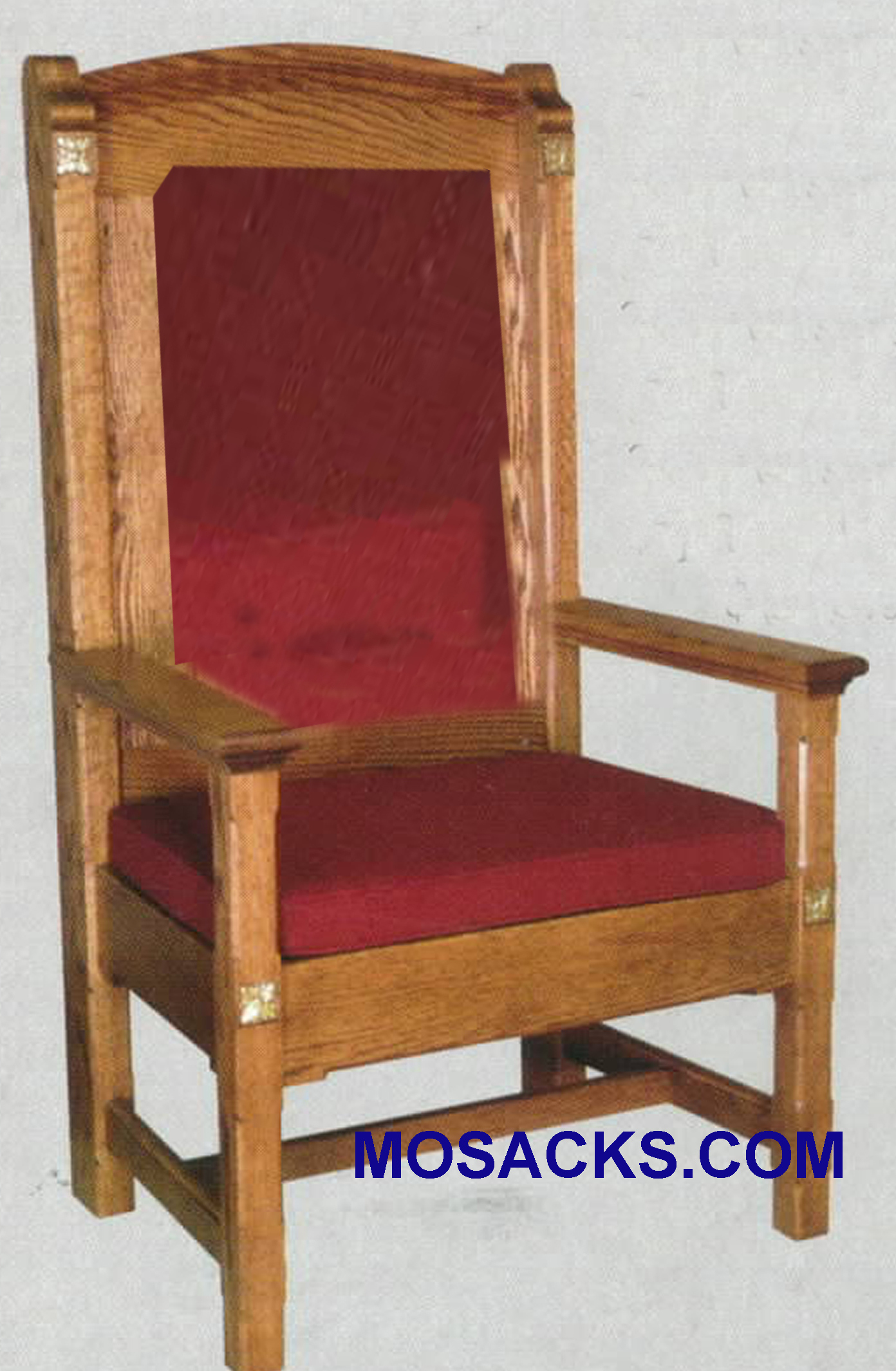 "Celebrant Chair w/ padded back 29"" w x 24"" d 52in h 146P"