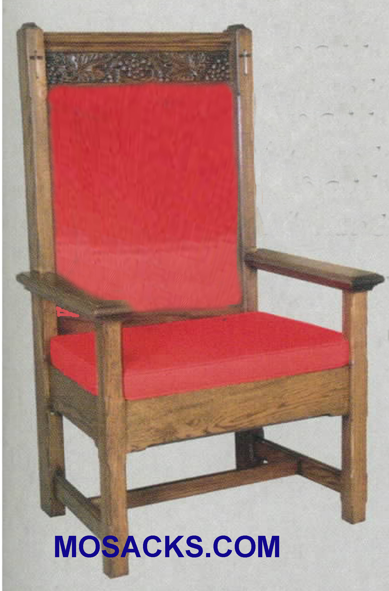 "Celebrant Chair w/ padded back 29"" w x 24"" d 52"" h 150P"