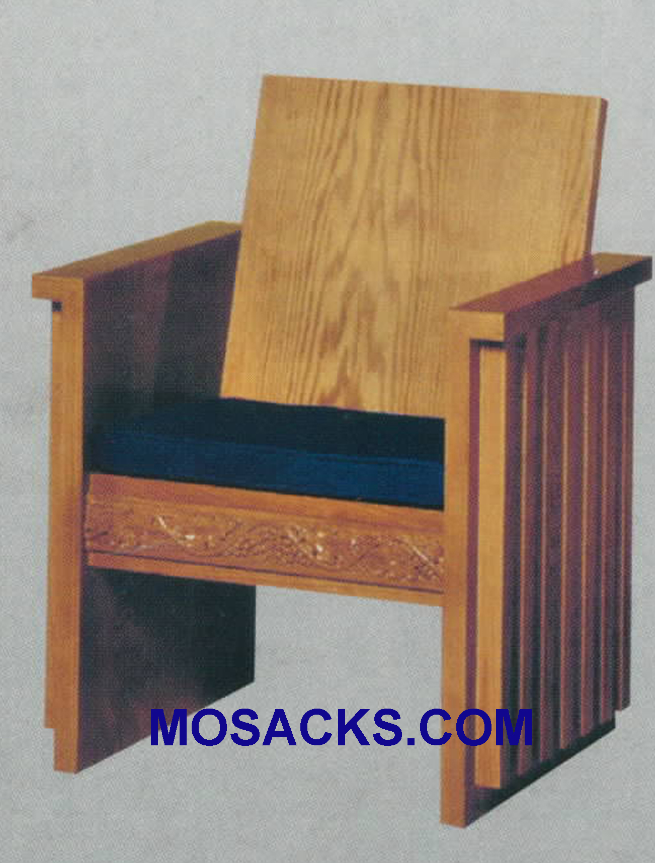 "Celebrant Chair w/ wood back and padded cushion 30"" w x 23"" d 38"" h 2030"