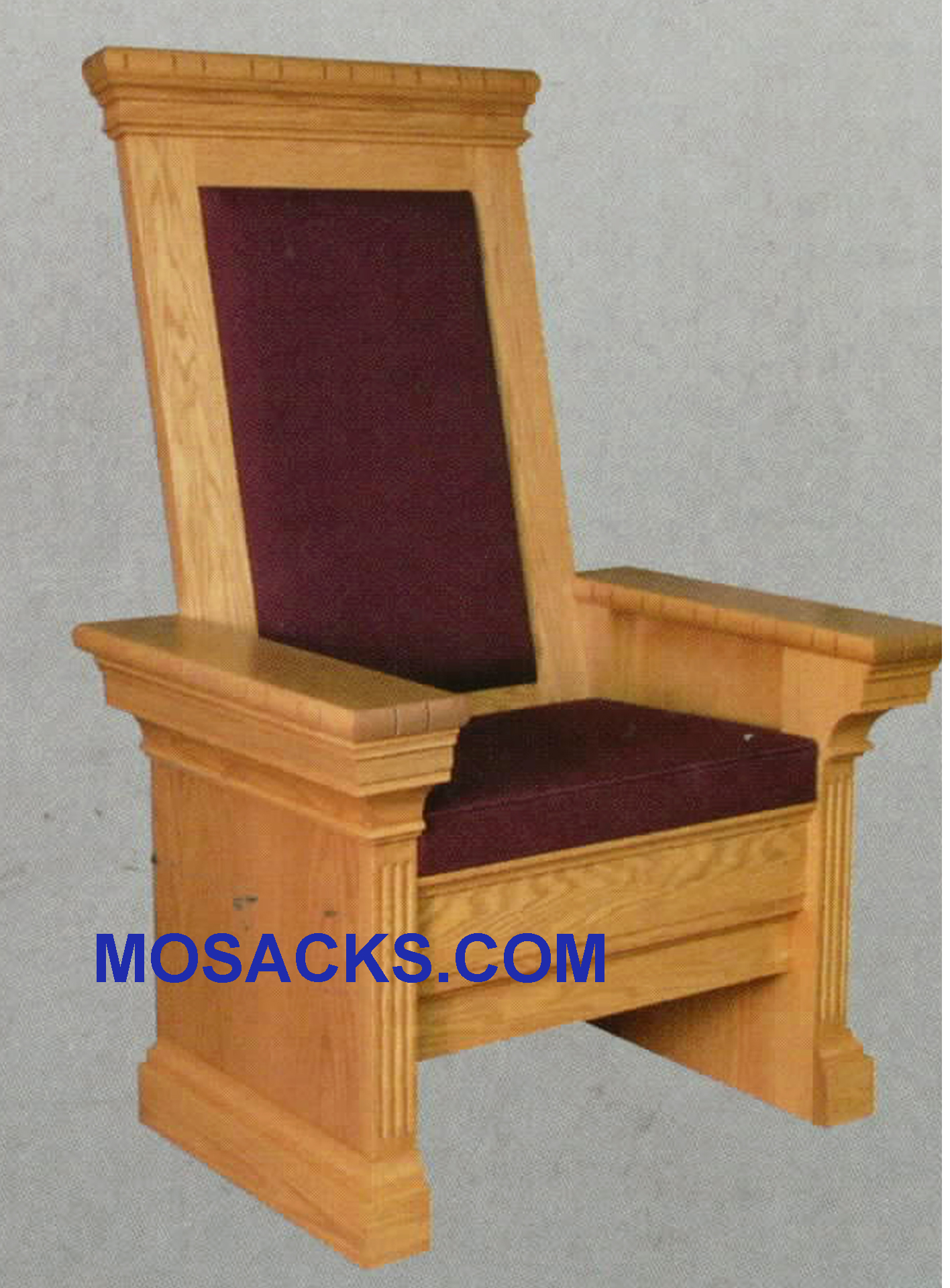 "Celebrant Chair w/ upholstered seat and back 34"" w x 30"" d 52"" h 653"