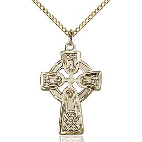 "Celtic Cross 12 KT Gold Filled Medal 1""-5689GF/18GF"