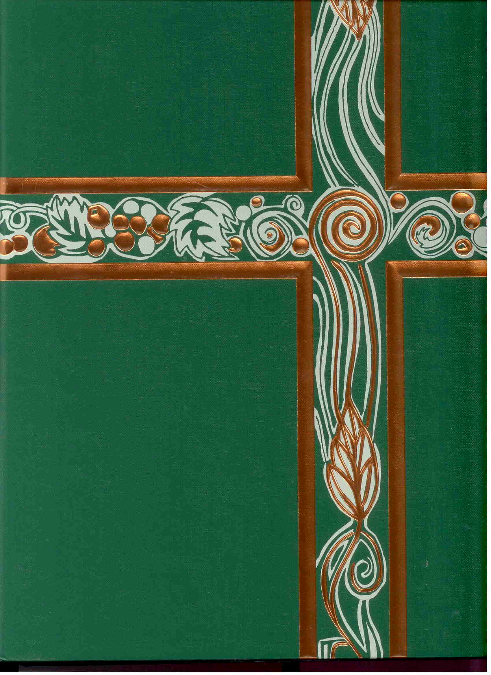 Ceremonial Binder Green with Copper Foil #006586