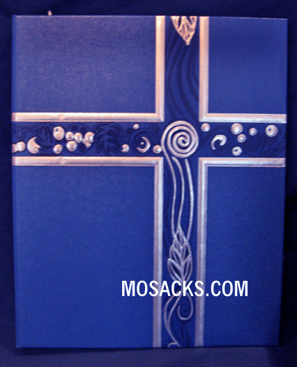 Ceremonial Binder Blue with Silver Foil #006510