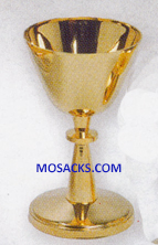 "Chalice - Gold Plated Chalice is 5"" High and 3"" dia. Cup with 5 oz. cap. 14-K233 ?FREE SHIPPING"