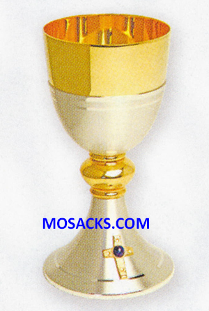 "Chalice Gold & Silver Plated 6-3/4"" High 7 oz capacity 14-K920"