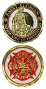 Challenge Coin - Saint Florian (Firefighters) 486-2419
