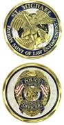 Challenge Coin - Saint Michael (Law Enforcment) 486-2499
