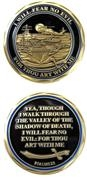 Challenge Coin United States Navy Psalm 23 486-2539