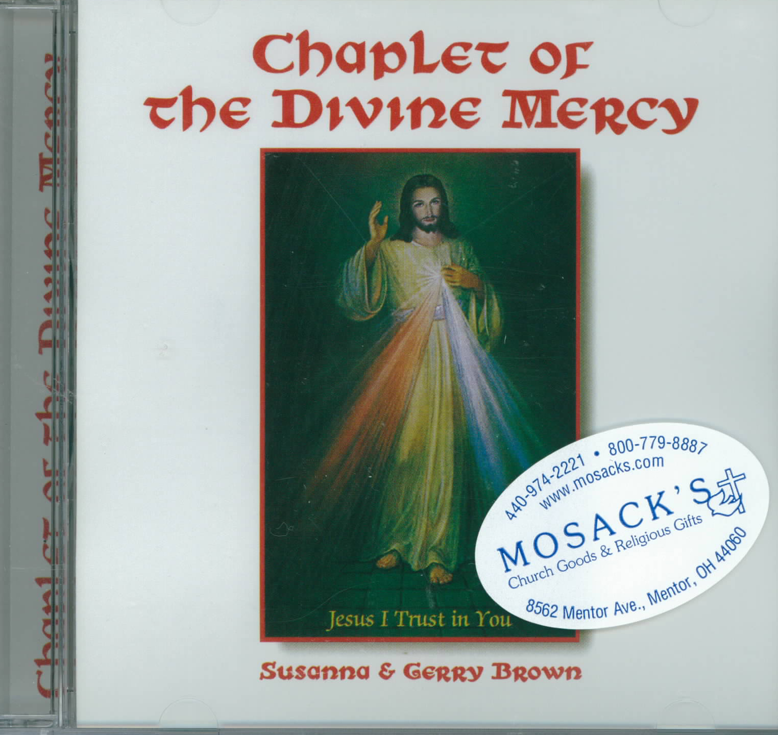 Chaplet of Divine Mercy By Susanna And Gerry Brown CD 245- 601008