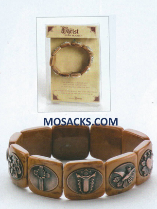 Christ Story Bracelet Brown 20-48241