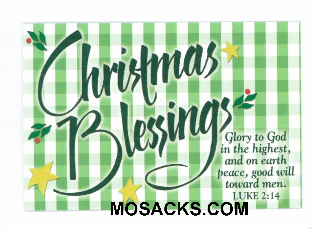 Christmas Blessings Message Card-27984