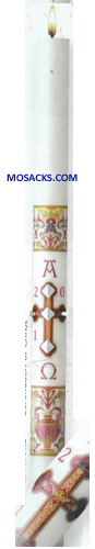 Classic Paschal Candle Investiture Coronation Of Christ