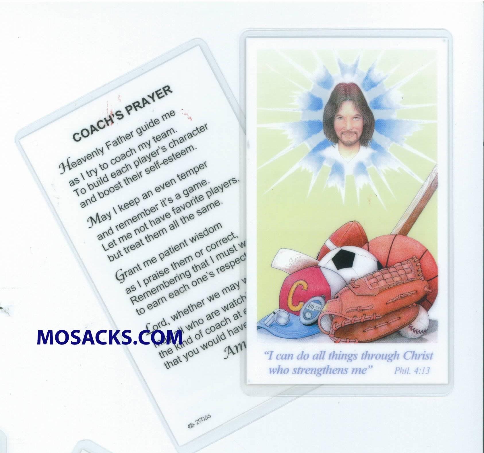 Coach's Prayer Laminated Holy Card 292-PV359