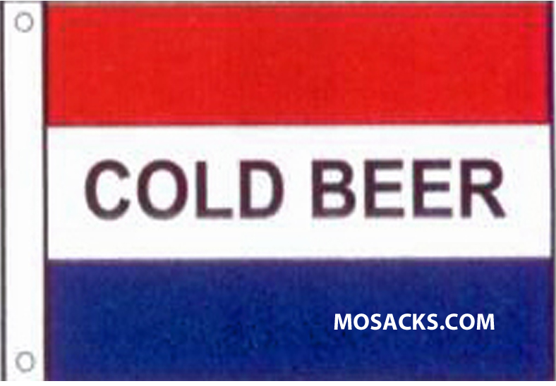 COLD BEER 3' x 5' Nylon Message Flag, #120015