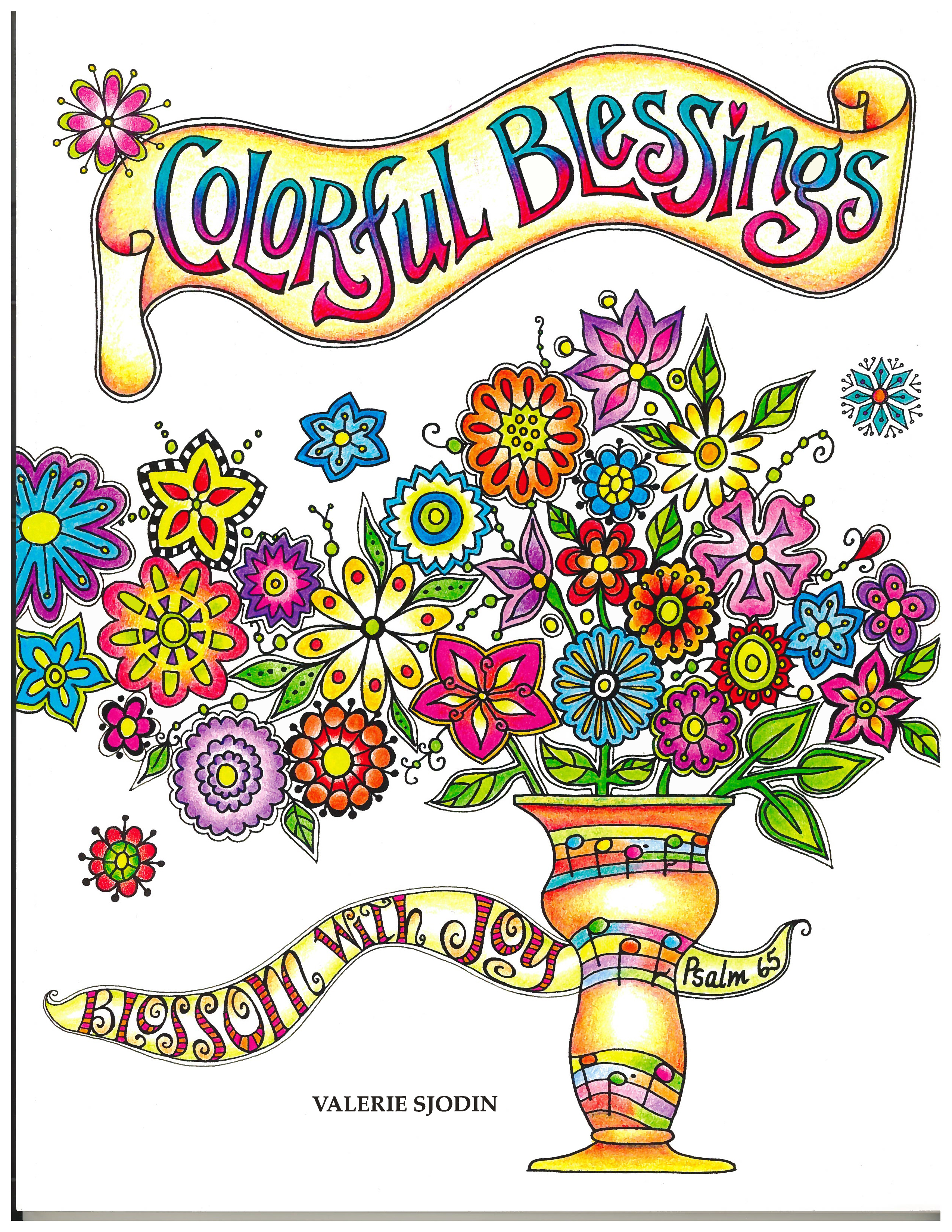 Colorful Blessings by Valerie Sjodin Adult coloring book 9781631866562