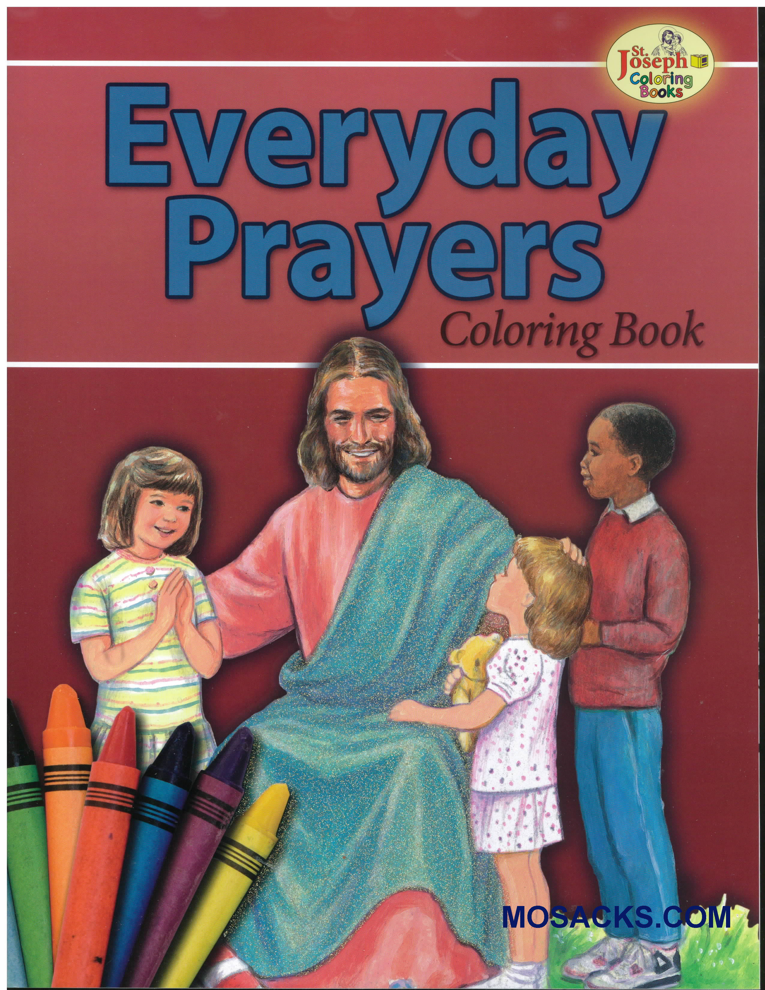 St Joseph Educational Coloring Book Everyday Prayers-978089942691-4