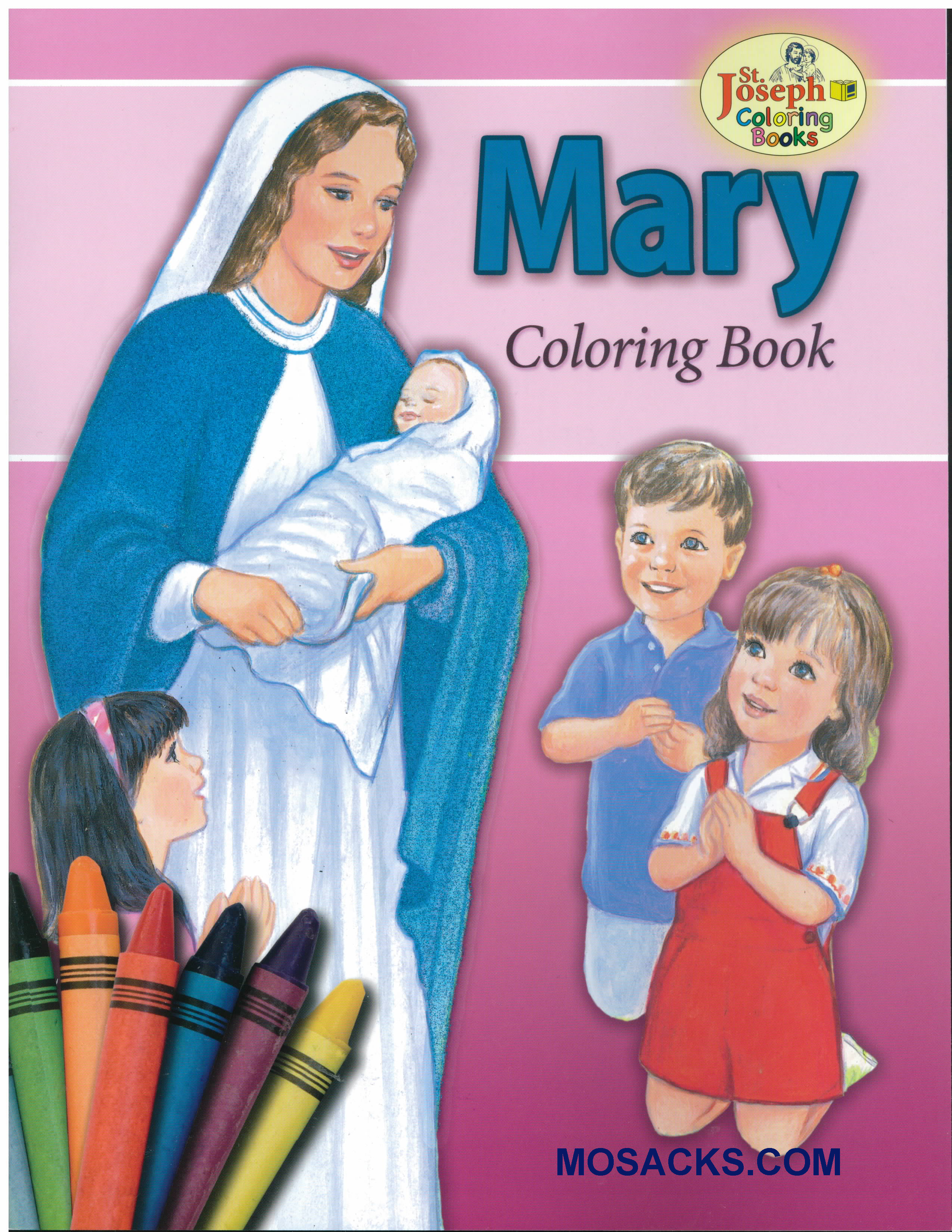 St Joseph Educational Coloring Book Mary-978089942685-3