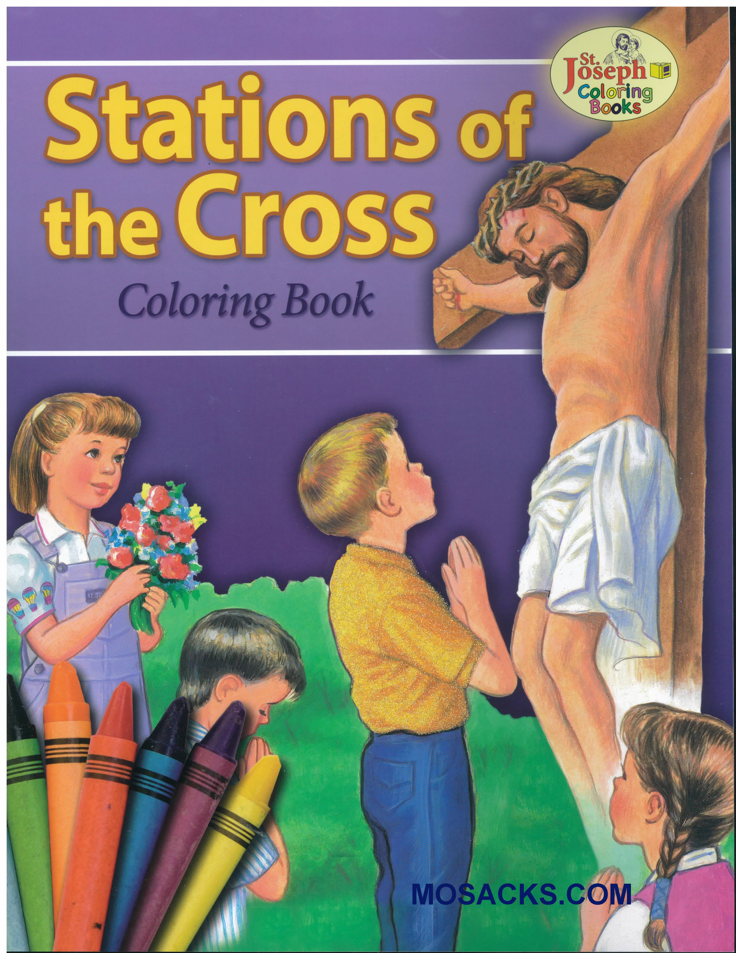 St Joseph Educational Coloring Book Stations Of The Cross-978089942689-1