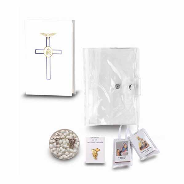 Communion 5 Pc Blessed Trinity Gift Set Girl White 12-5610