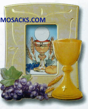 Communion 5x4 Inch Chalice & Grape Frame 12-2211