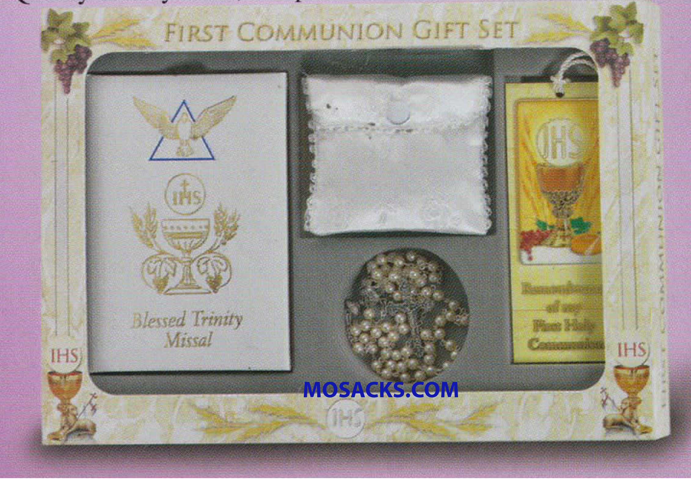 Communion 6 Pc Blessed Trinity Deluxe Gift Set Girl 12-5218