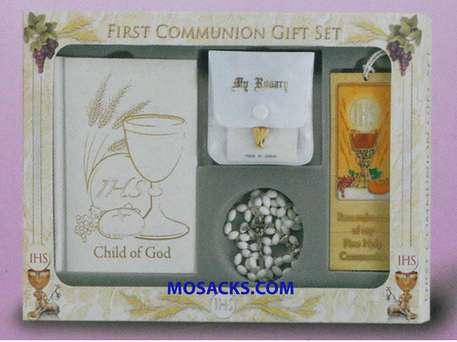 First Communion 6 Piece Deluxe Gift Set Child Of God Girl-5280