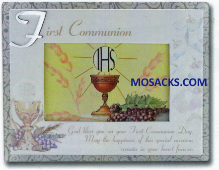 Communion 9 x 7 Inch First Communion Photo Frame 12-2218