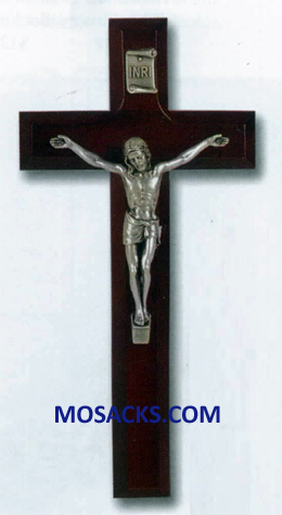 7 Inch Dark Cherry Wall Crucifix 12-41A-7R1