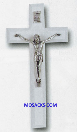 Communion 7 Inch White Wood Crucifix 12-41A-7L1