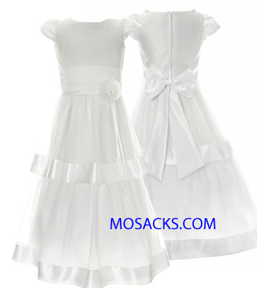 Communion Dress Double Tiered Satin Organza Sizes 7-12-204-66262