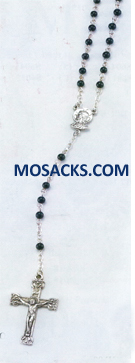 "4mm Onyx Bead 17.5"" Rosary 12-004OX"