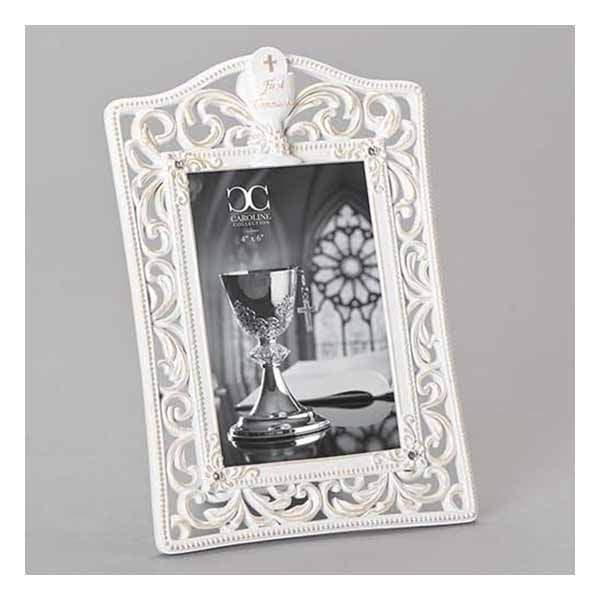 "First Holy Communion 4"" x 6"" Photo Frame Resin-Stone 20265"