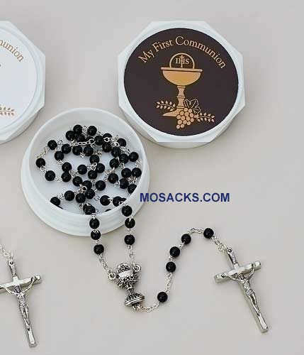 Communion Rosary With Box Black 20-46408